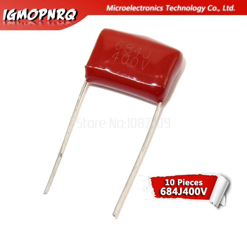 10PCS 400V684J Pitch 15MM 0.68UF 680nf 684 400V Igmopnrq CBB Polypropylene Film Capacitor New