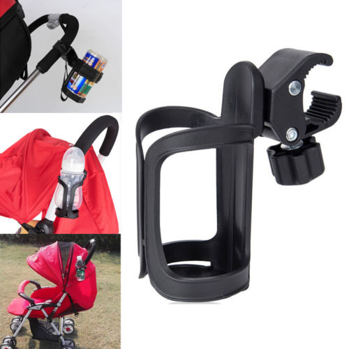 Bicycle Stroller Water Cup Holder Coffee Drink Bottle Handlebar Mount Cage