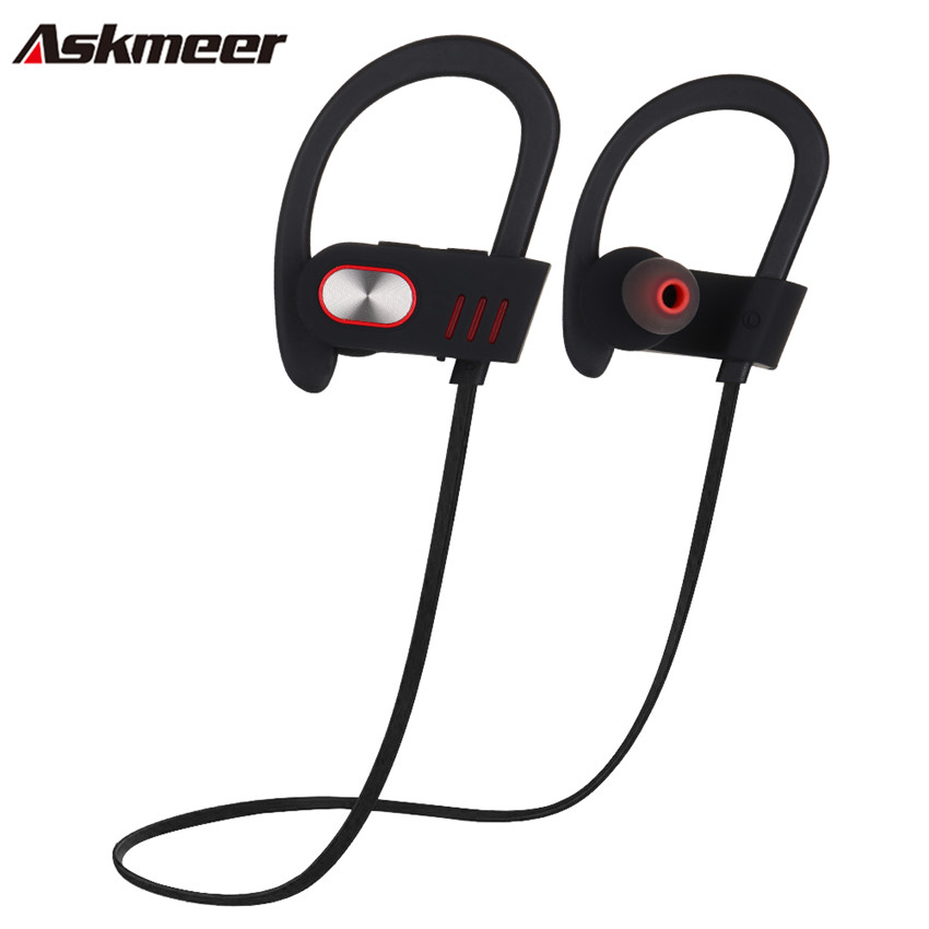 Askmeer V5 Bluetooth Earbuds Handsfree Headset Blue tooth Earphones Ear Hook Wireless Sport Running Earpieces With Mic for Phone стоимость