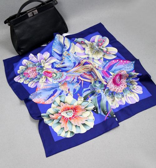 ELEGANT HANDMADE BRAND 100% 14mmTwill Silk Scarf