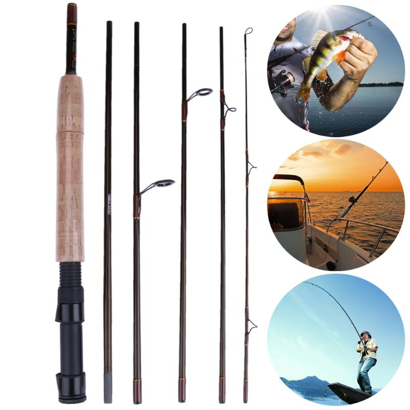 2.3M 7Section M High Carbon Power Carbon Fiber Spinning/Casting Travel Lure Fishing Rod