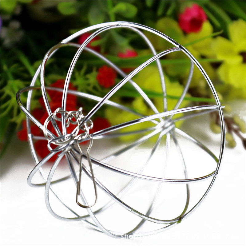 NEW 1pcs Hot Sale Stainless Steel Round Sphere Feed Dispense Exercise Hanging Hay Ball Guinea Pig Hamster Rat Rabbit Pet Toy 4