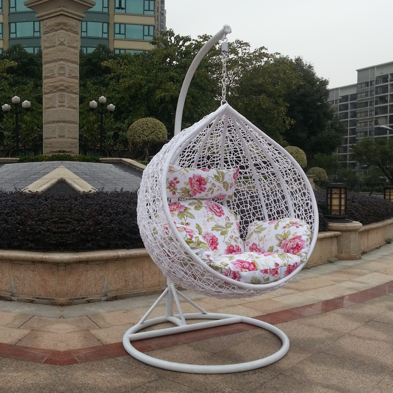Rattan basket hanging chairs swing balcony outdoor wicker ...
