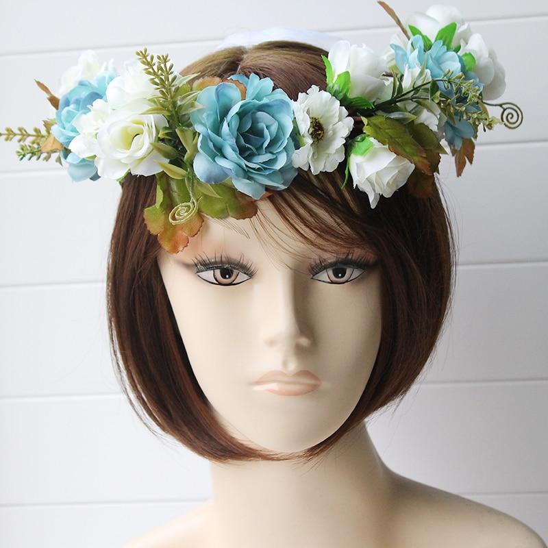 simulation penny flower wreath headband women Rattan simulation - Apparel Accessories - Photo 2