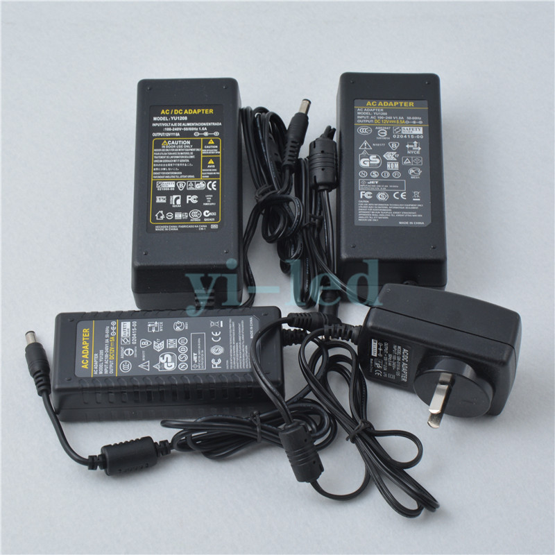 Mokungit AC100-240V to DC <font><b>5V</b></font> 2A <font><b>6A</b></font> 8A 10A Plastic LED Power Supply Adapter Charger Transformers For WS2812B APA102 LPD8806 Strip image