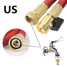 Hospaip 50ft Garden Hose - ALL NEW Expandable Water Hose with Double Latex Core 3/4 Solid Brass Fittings Extra Strength Fabric