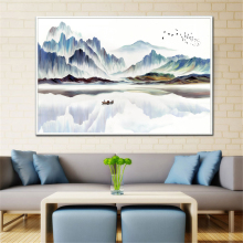 Painting Abstract Large Size Mountain Peaks Landsc