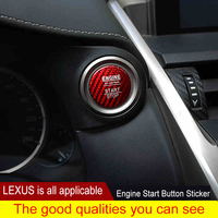 QHCP Carbon Fiber Car Engine Start Stop Button Cap Trim Cover For LEXUS NX200 300 ES200 RX300 IS250 CT GS Car Styling Accessory