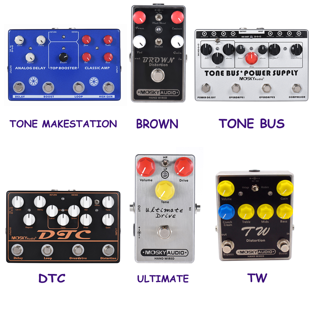 mosky guitar hand made multi effects pedal tone dtc ultimate distortion power supply guitarra. Black Bedroom Furniture Sets. Home Design Ideas