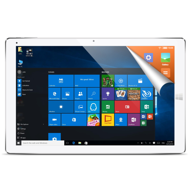 CUBE i12 Tablets pc iwork12 12.2 inch Intel Cherry Trail X5-Z8300 Quad-core 4GB 64GB Windows 10 & Android 5.1 Dual OS Tablet PC
