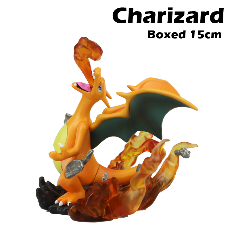 Free Shipping 6 Anime Cartoon Monster Charizard Dragon Fight Ver. Boxed 15cm PVC Action Figure Collection Model Doll Toys Gift free shipping sexy 5 dragon toy bible black anime rika shiraki 1 6 scale boxed 13cm pvc action figure model doll toys gift
