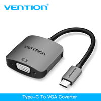 Vention USB Type C VGA Adapter USB C To VGA Female Adapter For MacBook Pro ChromeBook