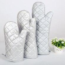 1 пара приготовления выпечки хлопчатобумажные перчатки термостойкая 300 градусов рукавица для Гриль-барбекю прихватка-перчатки для барбекю