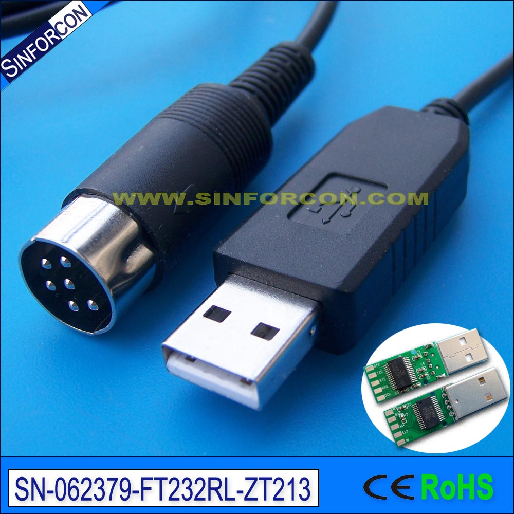 ftdi ft232 usb rs232 adapter cat control cable for kenwood ts-450s ts690 ts 790 ld-150