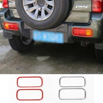MOPAI รถภายนอกด้านหลังกันชนหมอกไฟโคมไฟตกแต่งป้องกันสำหรับ Suzuki Jimny 2007 รถอุปกรณ์จัดแต่งทรงผม