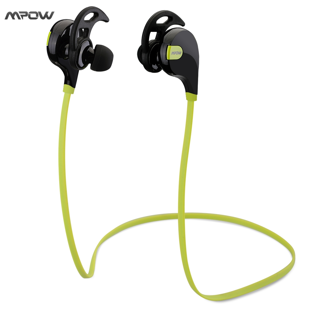 Mpow Swift Bluetooth 4.0 Wireless Earphones Sport Headphones Sweatproof Running Gym Exercise APT-X Bluetooth Stereo Earbuds bluetooth4 1 headphones wireless sport earphones sweatproof running earbuds stereo sound earpiece with mic for gym sports