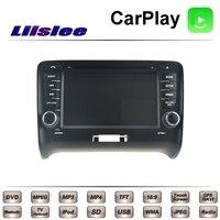 Для Audi TT TTS 8J MK2 2006 ~ 2014 LiisLee Автомобильный мультимедийный ТВ DVD gps радио Carplay оригинальный Стиль навигации navi