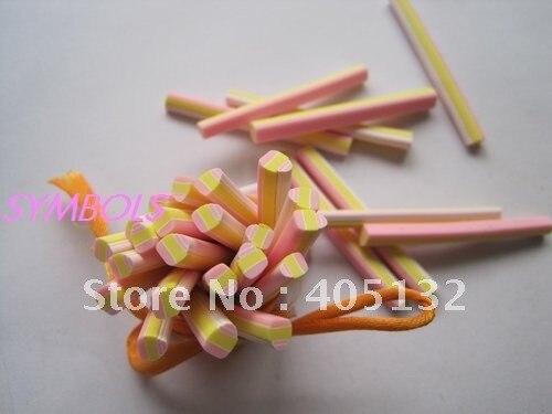 M-25 100 шт 5 мм милый светло-желтый кекс Полимерная глина трость Необычные дизайн ногтей Полимерная глина трость