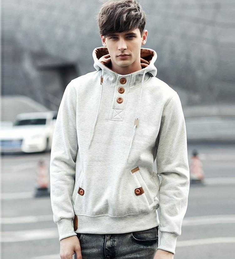 JeeToo Men Hoodies 17 Casual Hoodies Men Fleece Fashion Hip Hop Warm Hoody Polo Mens Hoody Jacket Sweatshirt Mens Sweat Homme 10
