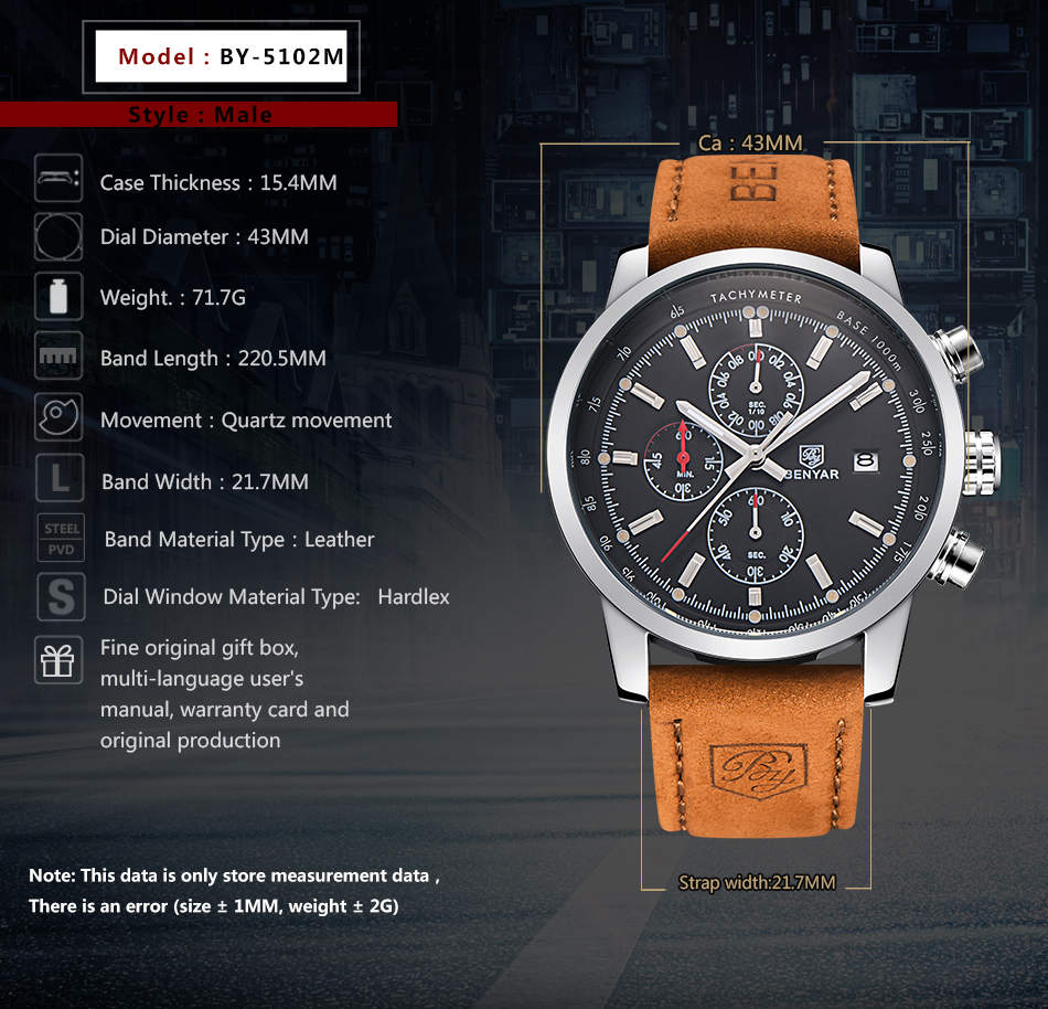 BY-Watches Men Luxury Brand Quartz Watch Fashion