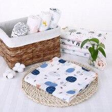 Детская муслиновая пеленка одеяло новорожденных обертывания пеленки для обертывания банное полотенце