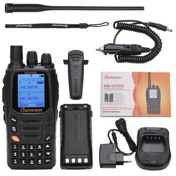 Wouxun kg-uv2q 8w high power 7 bands including air band cross band repeater walkie talkie upgrade kg-uv9d plus ham radio