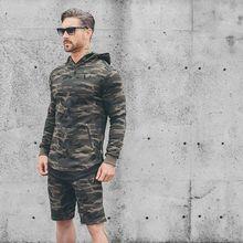 Camo alle saison pullover hoodie fitness sweatshirt Camouflage slim 100% langhülse baumwolle sweatshirt split reißverschluss licht gewicht