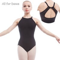Adult Ballet Leotards Black Cotton Spandex Dance Wear Gymnastics Leotard For Dance Camisole Ballet Body Suit