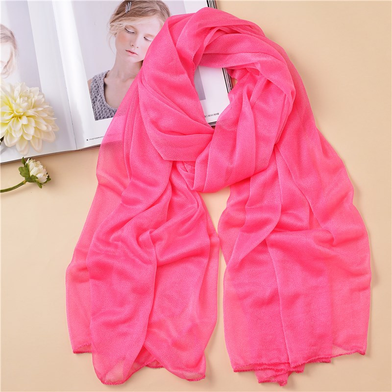 Summer Women Fashion Shawl Scarf Solid Color Soft Lightweight Beach Pareo Hijab Head Wrap Foulard Femme Scarves For Ladies