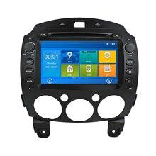 Top Car Auto DVD Player Para Mazda 2 Mazda2 2007 2008 2009 2010 2011 2012 2013 2014 com GPS de Navegação Rádio RDS Bluetooth Ipod