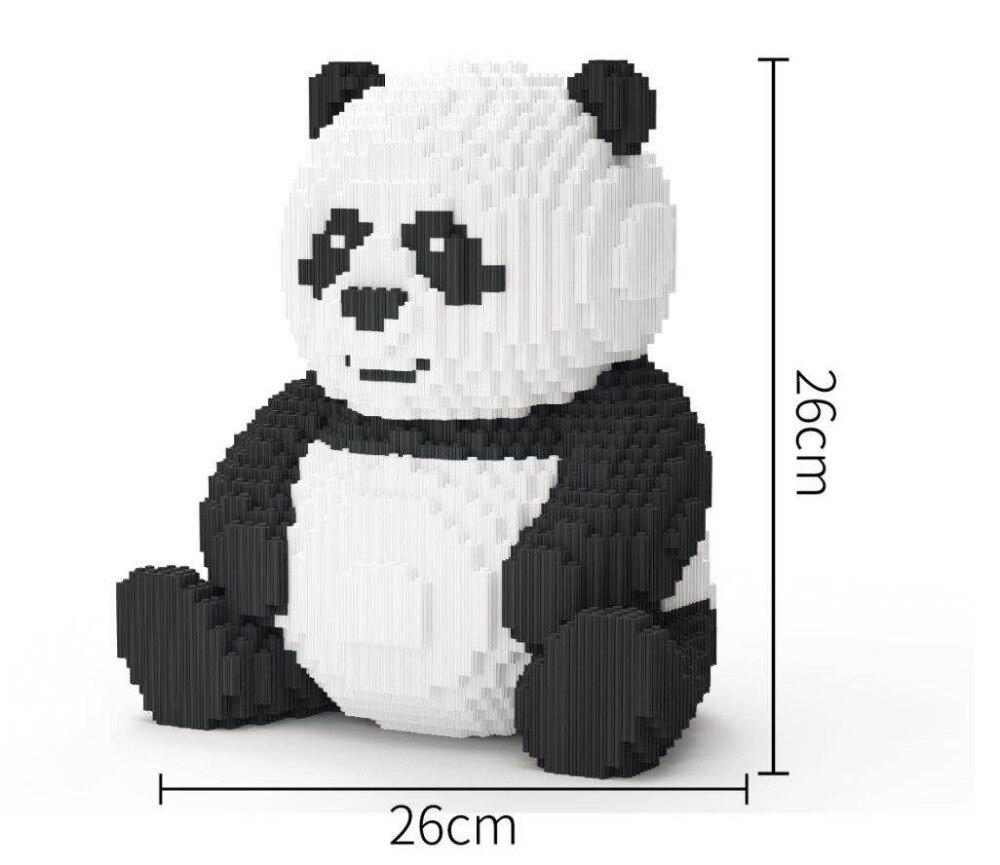Xizai Connection Blocks Cartoon Building Toy Big Size Panda Model Animal Building Bricks Toys Brinquedos for