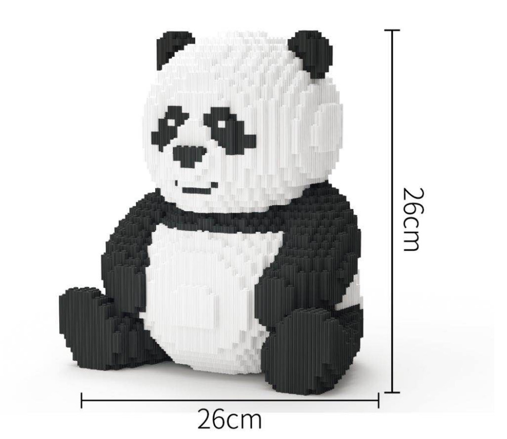 Xizai Connection Blocks Cartoon Building Toy Big Size Panda Model Animal Building Bricks Toys Brinquedos for Kids Christmas Gift