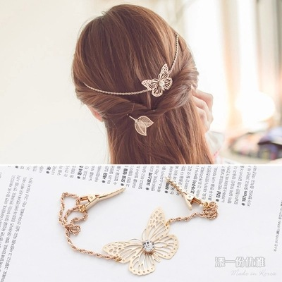 Korea Alloy Flower Crown Hair Accessories Weave Hair Bows Rim Hairpin Hair Clips For Women Headbands For Girls Barrette -4