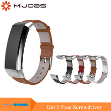 Mijobs Leather Wrist Strap for Huawei Band 2 Pro B29 B19 Replacement Sport Watch Smart Bracelet Wristband