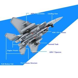 Image 3 - 270pcs Military Series F 15 Eagle Fighter Building Blocks Model Army Technic Airplane Set Bricks City Children Toys Kids Gift