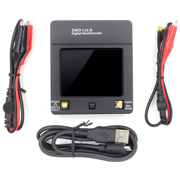 1Set Dso112A Tft Mini Digital Oscilloscope Contact Screen Portable Usb Oscilloscope Interface 2Mhz 5Msps