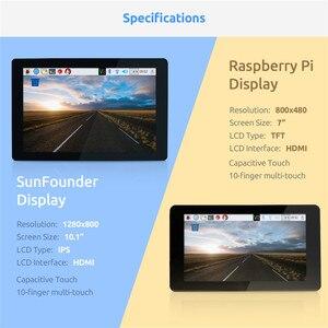 Image 2 - شاشة عرض تعمل باللمس 10.1 IPS من SunFounder HDMI 1280*800 لراسبيري Pi 4B 3B + 3B 2B لاتيباندا بيجل العظام