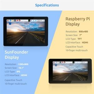 Image 2 - ЖК дисплей с сенсорным экраном SunFounder, 10,1 IPS, HDMI 1280*800 для Raspberry Pi 4B 3B + 3B 2B LattePanda Beagle Bone