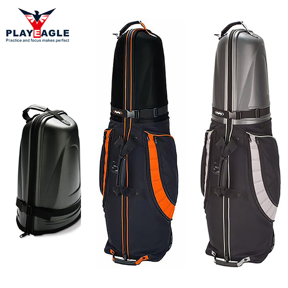 2018 New Hard Top and Bottom Shockproof Golf Travel Cover Bag 1 pcs Protable Folding Golf Aviation Bag Air Bag With Wheels