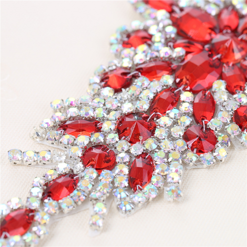 (30pieces) Wholesale Hotfix AB Crystals Red Color Rhinestone Sequin Applique  for Garment Dresses Headband Bridal Garters-in Rhinestones from Home    Garden ... 1e0b5967ebbf