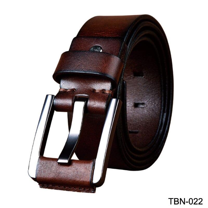 New winter jean belt for men genuine leather belts cowskin buckle strap male first layer skin