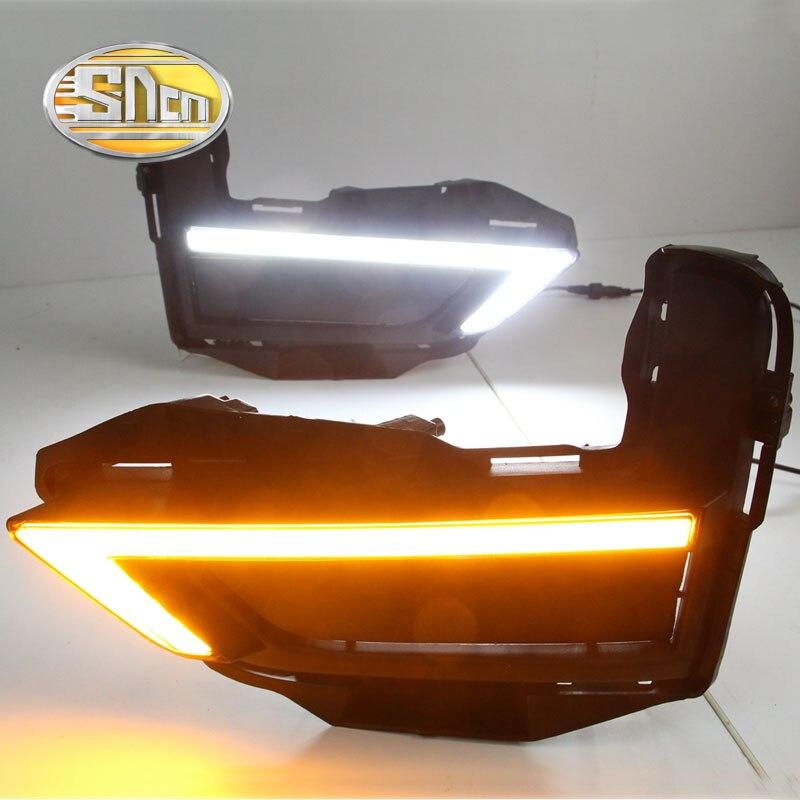 For Nissan X-trail Xtrail T32 2017 2018,Yellow Signal Function Relay Waterproof 12V Car LED DRL LED Daytime Running Light SNCN купить бампер nissan almera n16