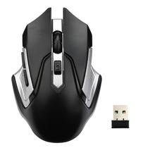 Wireless Optical Mouses Black 2.4GHz High Quality Mouse Gaming USB 2.0 Receiver for PC Laptop May25