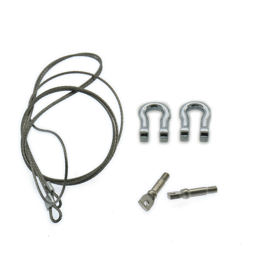 1set Rcawd Metal U Shape Trailer Hook With Steel Wire Rope For Rc Hobby Car Crawler Scale Parts Fz0018 U Shape Trailer Hook