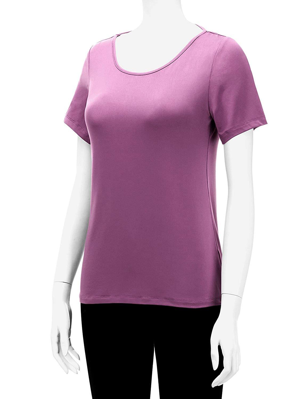 المرأة رطوبة فتل سوبر DRI تناسب الرياضة القمم الأداء (S 3X ، زائد أحجام)-في تي شيرتات من ملابس نسائية على  مجموعة 1