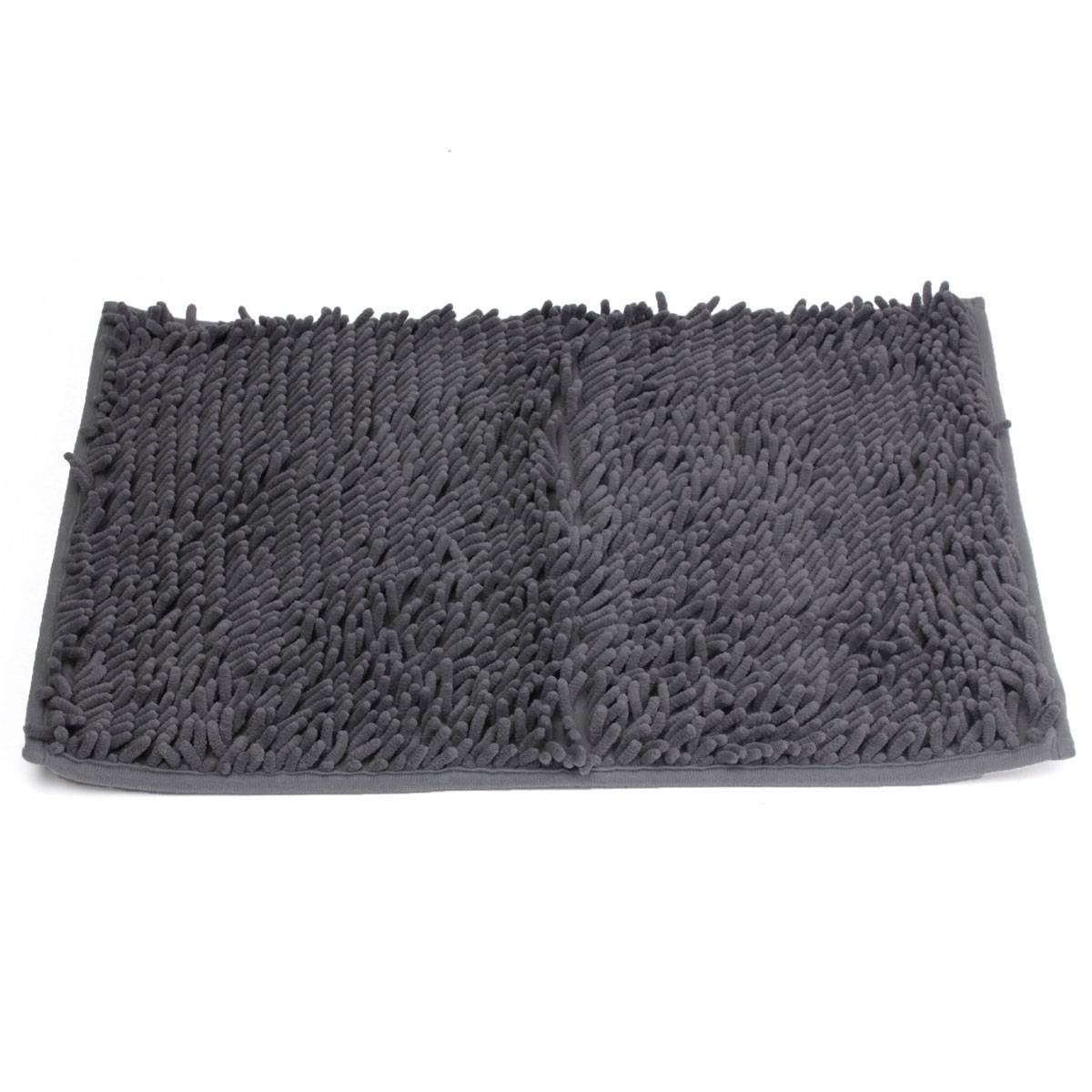 Black bathroom mats - 1pcs Washable Bathroom New Shaggy Rugs Non Slip Bath Mat Thick 40x60cm Dark Gray