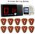 Restaurante sem fio Chamando Sistema Pager Coaster com Receptor Anfitrião + Assista Receptor + 10 pcs Chamar Botão do Transmissor F3286F 433MH