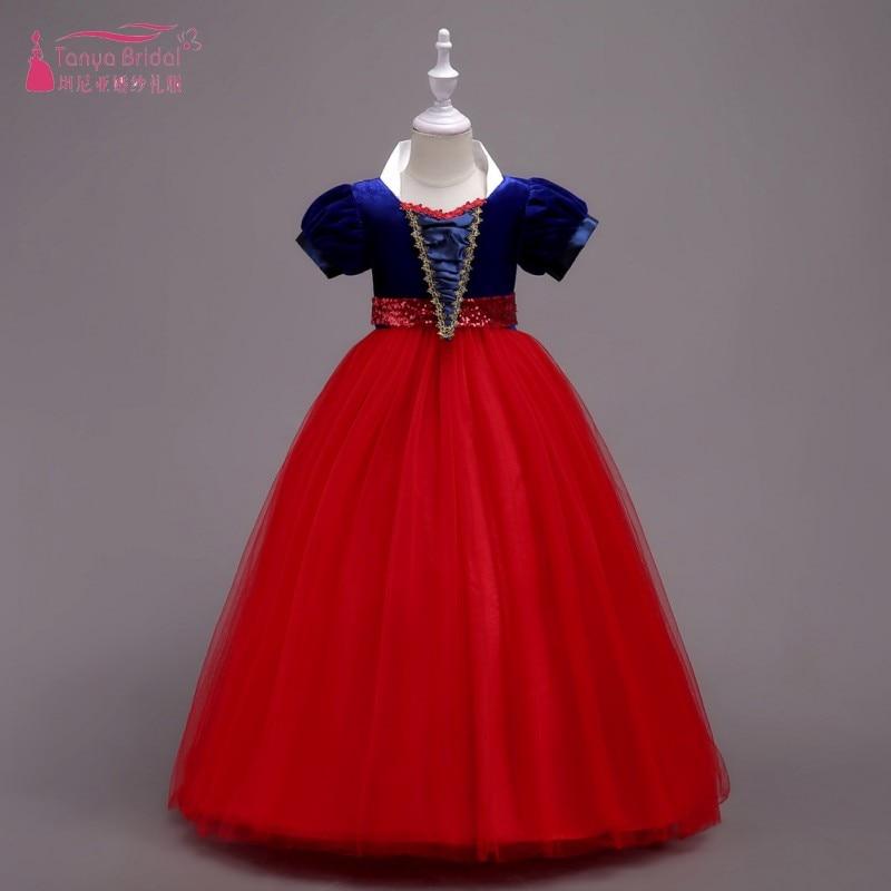 Children   Girl   Snow White   Dress   for   Girls   Prom Princess   Dress   Kids   Flower     Girls     Dress   Fancy Teenger Clothing ZF109