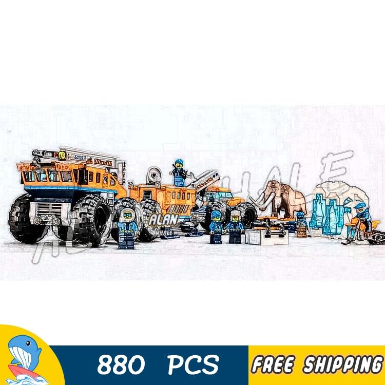 880 pièces ville arctique Base d'exploration Mobile laboratoire Mobile mammouth congelé 10997 Figure blocs de construction jouets compatibles