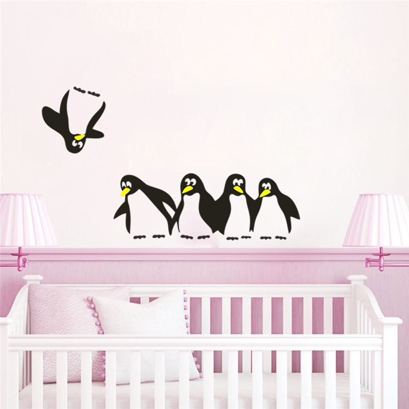 Online Shop Funny Save Penguin Kitchen Fridge Sticker Decals - Wall stickers for dining room
